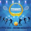 Tennis Shiny Background — Stockvektor