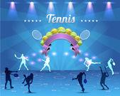 Теннис блестящий фон — Cтоковый вектор