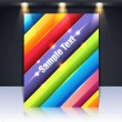 Shiny Multicolored Lines Abstract Background Vector Design — Image vectorielle