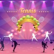 Stock Vector: Tennis Shiny Background