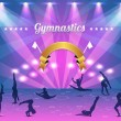 Gymnastics Shield Vector Background — Stock Vector