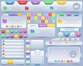 веб-элементы вектора дизайн набор — Cтоковый вектор