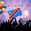 Stock Vector: National Celebration Vector Democratic Republic of Congo
