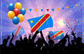 National Celebration Vector Democratic Republic of Congo — Stock Vector