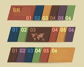 Vector Background Number Options Banner & Card — Stok Vektör