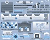 Projeto conjunto de vetor de elementos web — Vetorial Stock