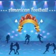 American Football Vector Design — Stock vektor