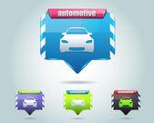 Capped Auto Icon Button Vector Design Multicolored — Stock Vector