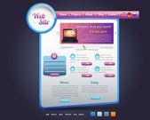 элементы вектора синхронизации дизайн веб-сайта — Cтоковый вектор