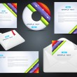 Business Identity Template Vector Design - Vettoriali Stock