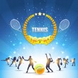 Tennis Shiny Background — Stock Vector #16850375