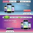 Website header and slider design vector elements — Stock vektor