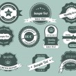 Retro Labels Design Vintage Sticker — Stockvector #16851665