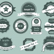 Retro Labels Design Vintage Sticker — Stock Vector