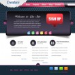 Business Style Web Template Vector Design Set - Stock Vector