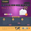 Business Style Web Template Vector Design Set - Imagens vectoriais em stock