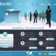 Business Style Web Template Vector Design Set — Stok Vektör
