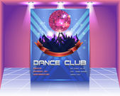 Dance Club Flyer Vector Template — Vettoriale Stock