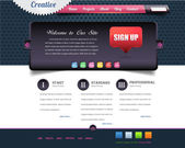 Business Style Web Template Vector Design Set — ストックベクタ