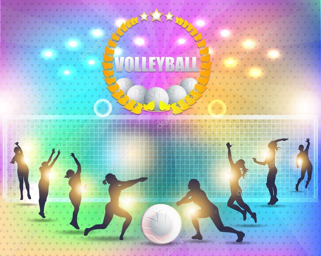 Stock Illustration Volleyball Tribal Abstract Vector: Astratto Sfondo Pallavolo Disegno Vettoriale