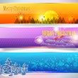 Christmas Banner — Vector de stock