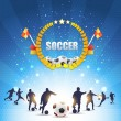 Soccer Shiny Background — Stock Vector #17488383