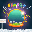Illustration of Spring Sphere Template — Stock Vector