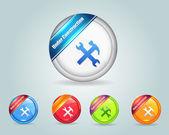 Under Constraction Vector Icon Button — Stock Vector