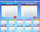 Calendar Year 2014 Vector Template — Stock Photo