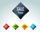Sale Point Butto Icon — Stock Photo