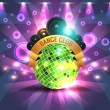 Dance Party Banner Background Flyer Templates — Stock Vector