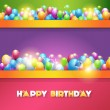 Vector Illustration of Happy Birthday Design — Stock Vector