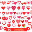 50 Valentine's Day Vector Design Elements — Stockvektor