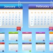 Vettoriale Stock : Calendar Year 2014 Vector Template