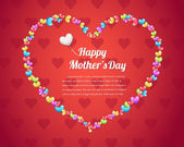 Mother's Day background vector — Stok Vektör