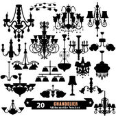 Chandelier Vector Set — Stock Vector