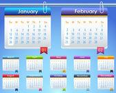 Calendar Year 2014 Vector Template — Stock Vector