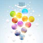 Calendar Year 2014 Vector Template — Stock Vector
