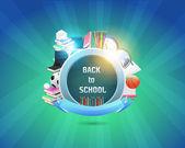 Volta para a escola de desenho vetorial — Vetorial Stock