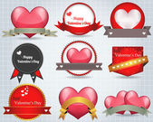 Valentine's Day Shine Lighting Background Vector Design Set — Vettoriale Stock
