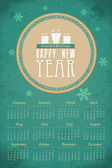2014 Full Calendar Template - Promotion Poster Vector Design — Stock Vector