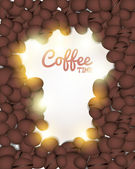 Coffee Background Vector Design — Stock Vector