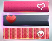 Valentine's Day Vector Web Banner — Stock Vector