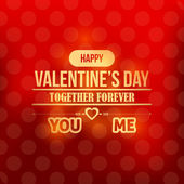 Valentine's Day Golden Badge Vector Design — Stockvektor