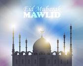 "Ramadan kareem - tema islámico noches santas vector diseño - árabe ""eid mubarak"", ""benditas"" en inglés — Vector de stock"