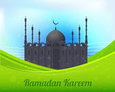 Ramadan Kareem Vector Design - Detailed drawings of the mosque - Islamic Holy Nights Theme — Stock Vector