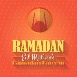 "Ramadan Kareem - Islamic Holy Nights Theme Vector Design - ""Eid Mubarak"" Arabic ""be Blessed"" at English — Stock Vector #48553435"