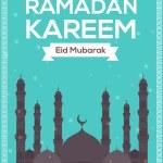 "Ramadan Kareem - Islamic Holy Nights Theme Vector Design - ""Eid Mubarak"" Arabic ""be Blessed"" at English — Stock Vector #48554533"