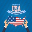 United States of America 4th of July Happy Independence Day — 图库矢量图片