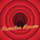 Ramadan Kareem - Islamic Holy Nights Theme Vector Design — Stok Vektör